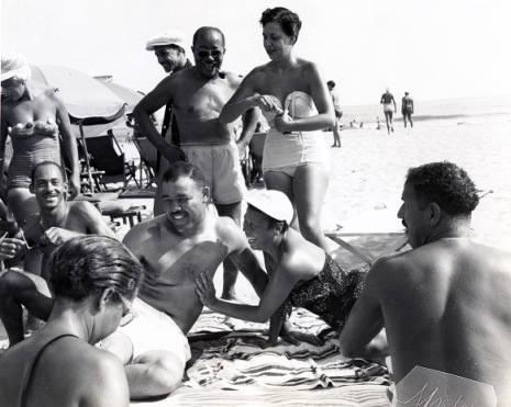 Joe Louis on Chicken Bone Beach in Atlantic City, New Jersey
