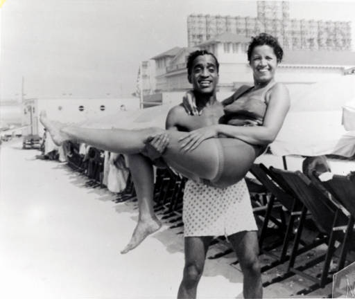 Sammy Davis, Jr. on Chicken Bone Beach in Atlantic City, New Jersey