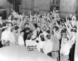 Workers being polled during PTC strike of 1944