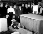 Hebrew Sunday School Society; 125th anniversary pilgrimage to grave of Rebecca Gratz at Mikveh...