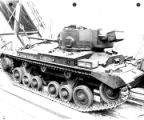 "Jon Stein; """"Showing wood chockings used on a Valentine tank. Planks support main weight..."