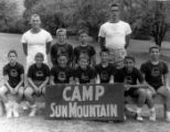 A group portrait of campers and counselors at Camp Sun Mountain.