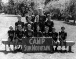 A group portrait of campers at Camp Sun Mountain.