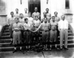 Formal photograph of the Varsity Baseball Team, 1934.