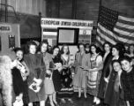 Allied Jewish Appeal Day, 1943.  Young women standing in front of an European-Jewish Children's...