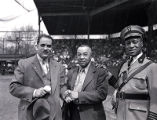 Hobson Reynolds, Ed Bolden and unidentified man at Philadelphia Stars game