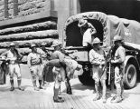 First City Troops unloading equipment
