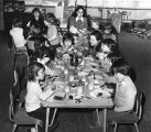 Children eating lunch at day care
