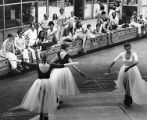 Members of the Philadelphia Civic Ballet company perform for a noon crowd at the NewMarket in...