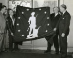 Budd Company receives flag from Treasury Department