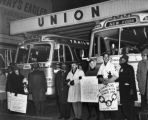 NAACP pickets Trailway buses at Union Terminal