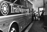 People board Trailways bus