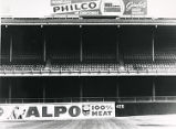 Advertisements inside Connie Mack Stadium