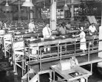 Campbell Soup Co. employees working at conveyor belts