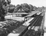 View of the Pennsylvania Railroad Chestnut Hill Station