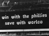 Scoreboard at Veterans Stadium