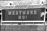 Electric sign at Veterans Stadium