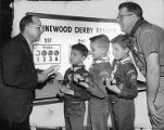 Computer used to determine winners of Pinewood Derby demonstrated