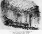 Archetectrual drawing of the interior of the Midway Theater