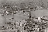 Aerial view of the Benjamin Franklin Bridge
