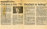 Chick Little '79: 'Sky(lab) is falling1'