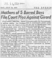 Mothers of five barred boys file court plea against Girard