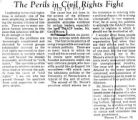 The perils in civil rights fight