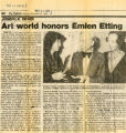Art world honors Emlen Etting