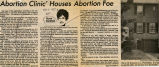 Abortion clinic' houses abortion foe