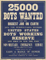 25000 boys wanted