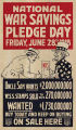 National war savings pledge day