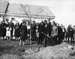 Groundbreaking ceremony for Ambler Campus dormitories and dining facilities, November 9, 1964