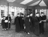 Academic procession at the dedication of Bright Hall on Temple University Ambler Campus, April 27,...