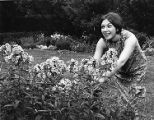Dorrie Sue Rosenblatt, a landscape design major, working in the garden at the Ambler Campus, 1966