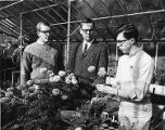 George Manaker and students choosing plants for Ambler's exhibition at the 1966 Philadelphia...