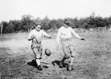 Temple University football team practicing circa 1928