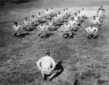 Temple University football team at practice circa 1928