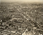 Aerial view of North Philadelphia looking southwestward from 2nd and Tioga Streets