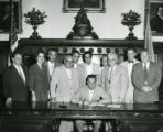 Mayor Joseph S. Clark signs Housing Code