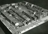 Architectural model of dilapidated area in Philadelphia