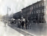 Horse-drawn carriages on Bambrey Street and Glenwood Avenue