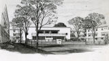 Artist's sketch of Richard Allen Homes