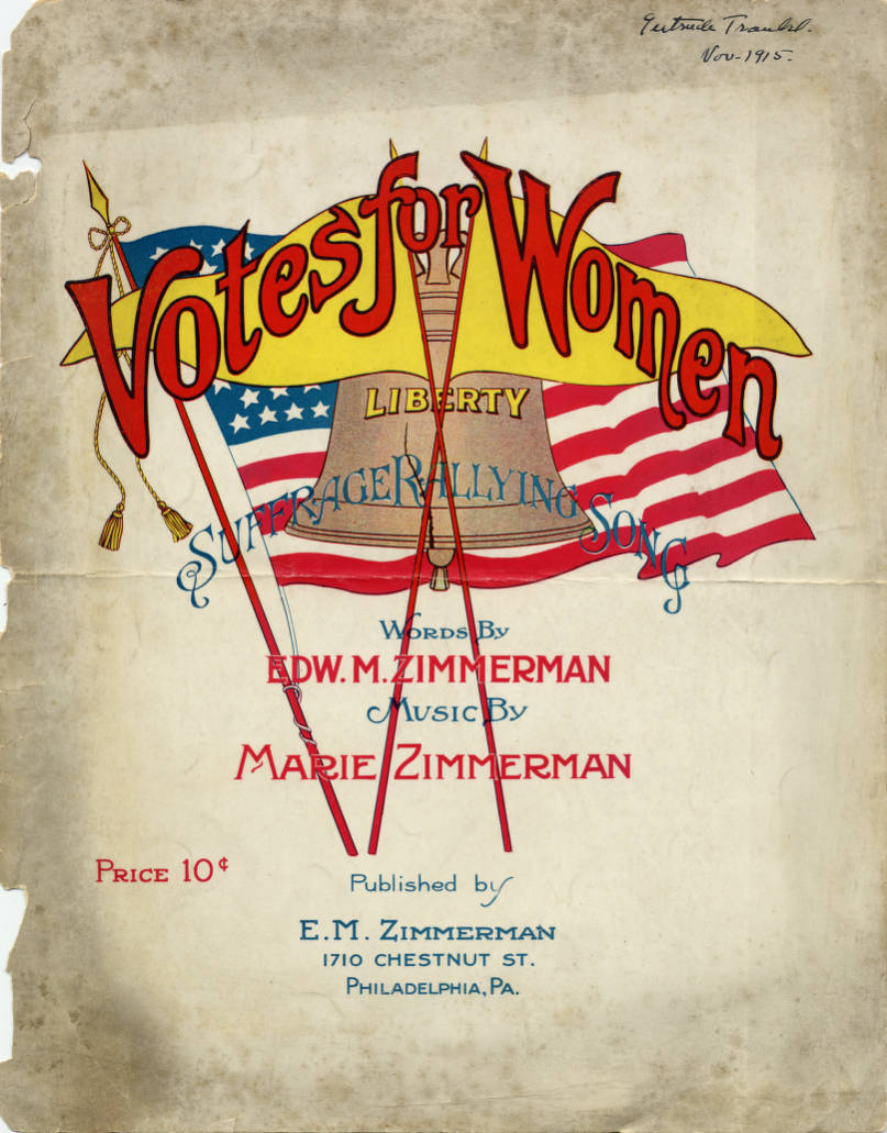 Image result for votes for women sheet music