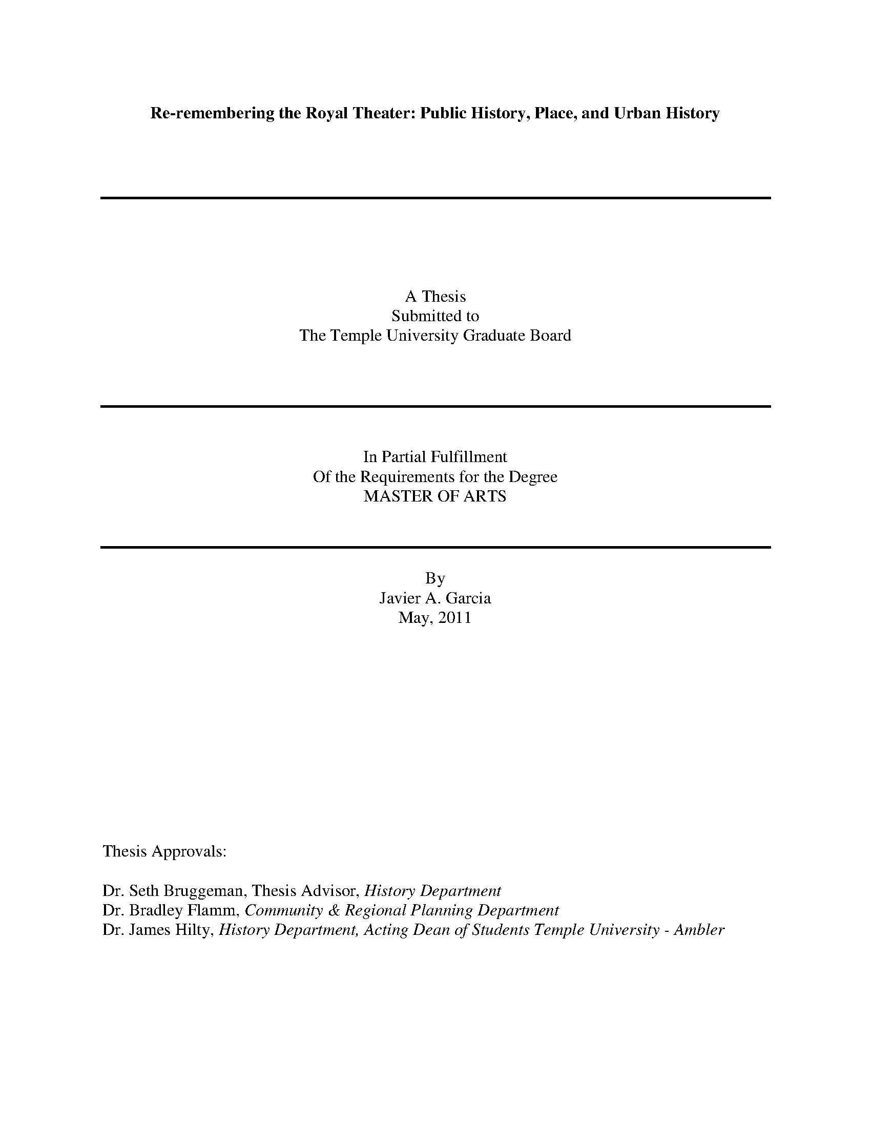 Page 1 - Temple University Electronic Theses and
