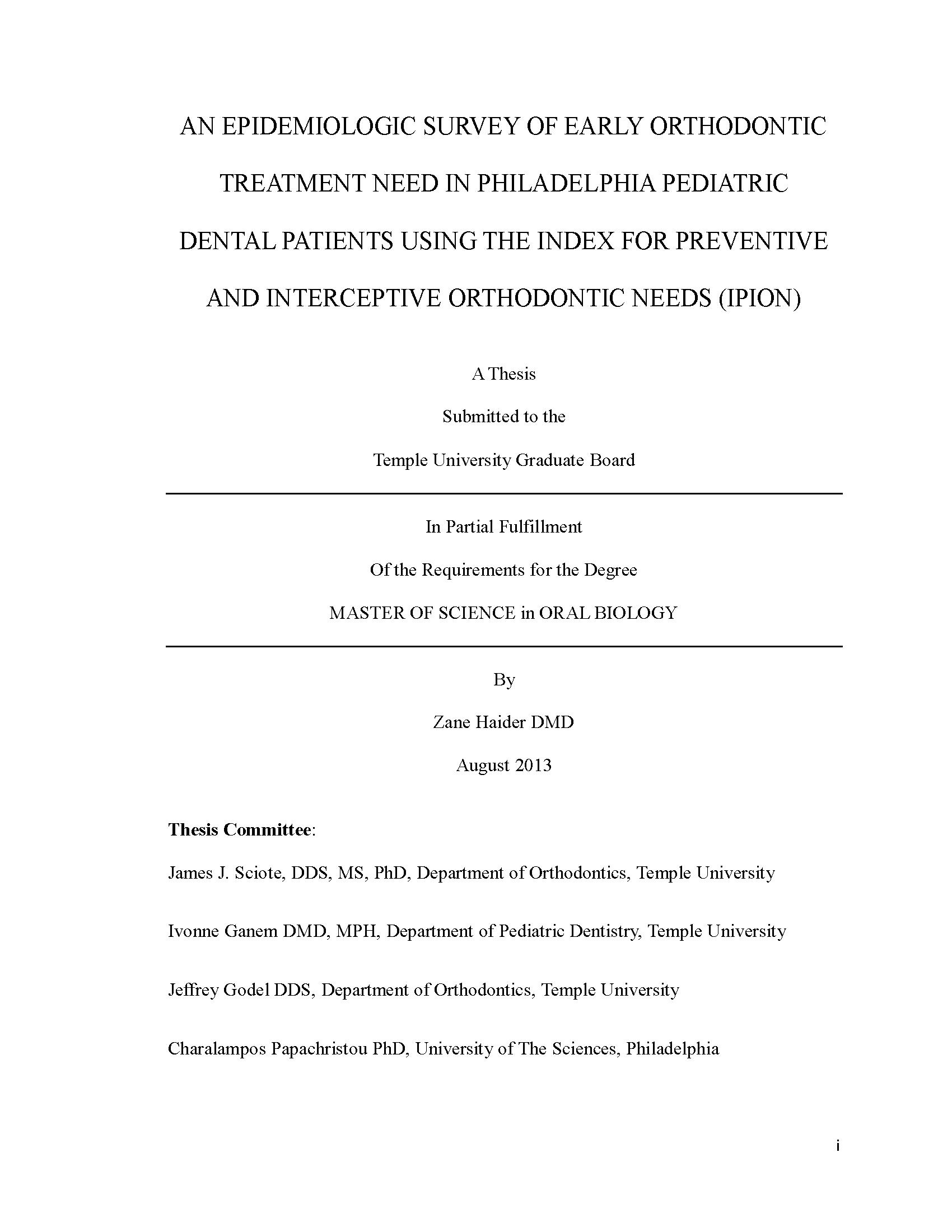 seminar topics in orthodontics